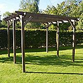 Garden Pergola 4.8m x 4.8m - Sculpted Rafter End