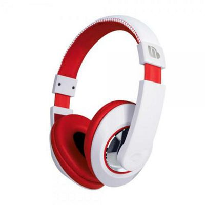 Merkury Tempo Headphones in Red & White