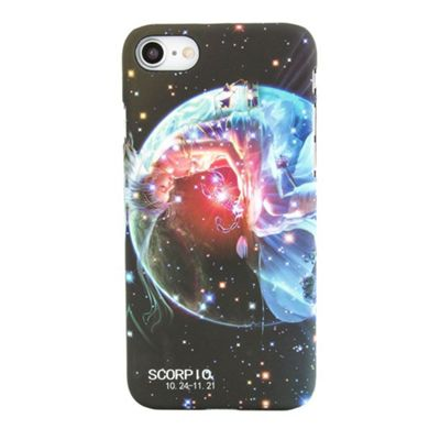 iPhone 8 Scorpio Star Sign Glow In the Dark Slim Protective Phone Case - Multi