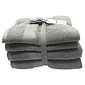Kinglsey Hygro 4 Piece Towel Bale Grey