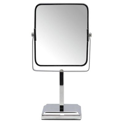 bathroom free standing mirrors buy tesco free standing square pedestal bathroom mirror 15968