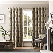 Curtina Ancona Charcoal Eyelet Curtains - Charcoal