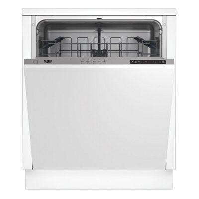 Beko-DIN15211 Full Size Fully Integrated 12 Place Setting Capacity Dishwasher in White
