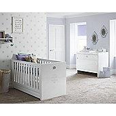 Tutti Bambini Sovereign 2 Piece Nursery Room Set, High Gloss White