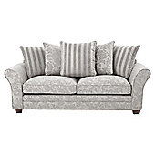 Bronte Scatterback Large 3 Seater Sofa, Grey