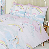 Unicorn and Clouds Toddler Bedding