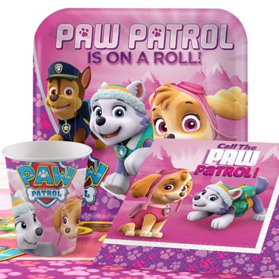 Pink Paw Patrol Party Pack - Value Party for 8