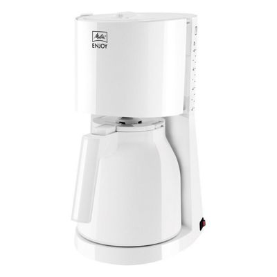 Melitta-1017-05 Enjoy II Glass Filter Coffee Machine with 15 Cup Capacity in White