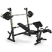 Marcy Diamond Elite Olympic Weight Bench with 140kg Weight Set