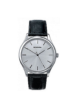 Sekonda Gents Classic Black Leather Watch
