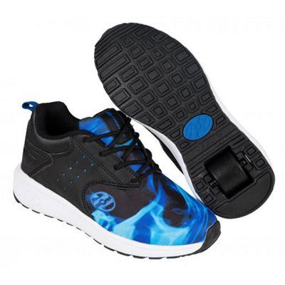 Heelys Velocity Black/Blue/Flame Kids Heely Shoe UK 6
