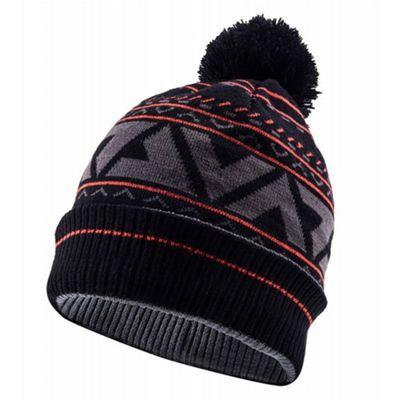 SealSkinz Waterproof Bobble Hat Black/Grey/Red Size: S/M