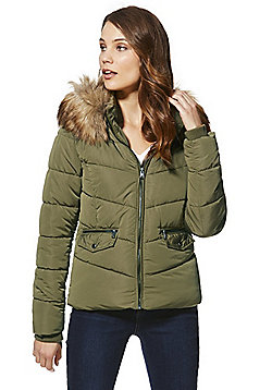 Only Sanna Quilted Padded Jacket - Olive