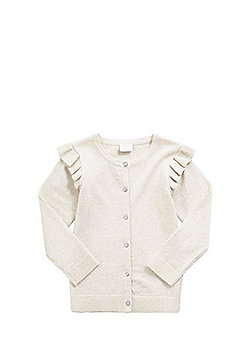 F&F Frill Trim Sparkle Cardigan - Gold