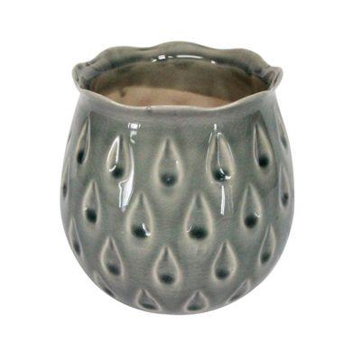 Grey Teardrop Pot - Small