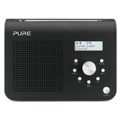Pure One Classic SII Portable FM and DAB Digital Radio - Black