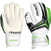 Reusch Re:Ceptor SG Finger Support Junior Goalkeeper Goalie Glove - Green