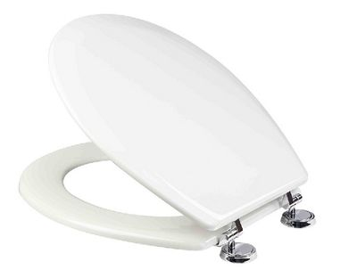 Croydex Ripley 'Sit Tight' Double Fixed Toilet Seat - Anti-Bacterial - White
