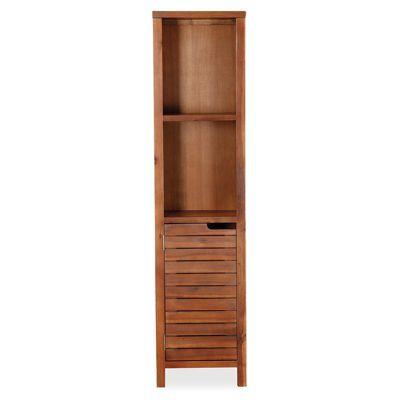 Victoria Acacia Tall Unit - Bathroom Cupboard