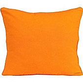 Homescapes Cotton Plain Orange Scatter Cushion, 45 x 45 cm