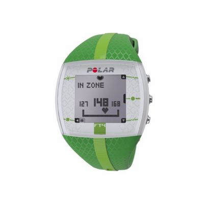 Polar FT4 HRM Heart Rate Monitor Sports Watch Green + Chest Strap