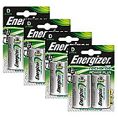 8 x Energizer ACCU Rechargeable D Cell NiMh Batteries (2500mAh)