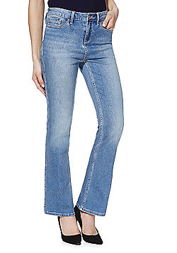 F&F Authentic Mid Rise Bootcut Jeans - Mid wash