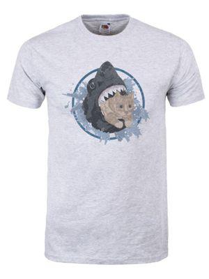 Kitten Vs Shark Grey Men's T-shirt