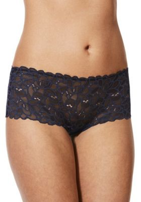 F&F Floral Lace Shorts Navy 8
