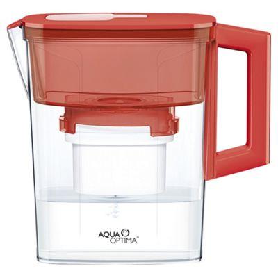 Aqua Optima Water Filter Jug 6 Month Pack Red