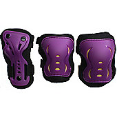 SFR Essentials Triple Pad Set - Purple / Black / Gold - Medium (age 7-9)