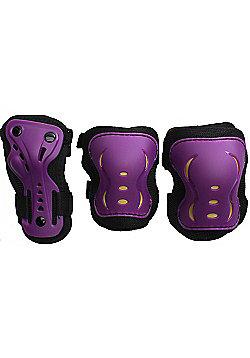 SFR Essentials Triple Pad Set - Purple / Black / Gold - Medium (age 7-9)