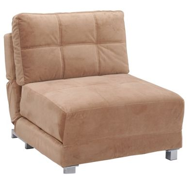 Leader Lifestyle Rita Chair Bed - Tasteful Mocha Brown Fabric