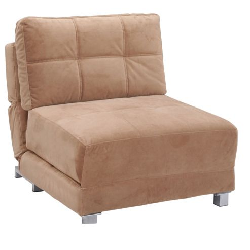 Leader Lifestyle Rita Chair Bed - Tasteful Mocha Brown Fabric