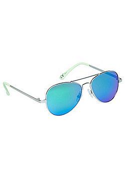F&F Mirrored Aviator Sunglasses One size Silver