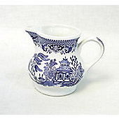 Churchill China Blue Willow Georgian Cream and Milk Serving Jug WBMBCJG