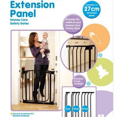 Emmay Care 27cm Extra Tall Gate Extension Black