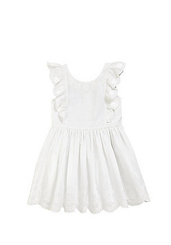 F&F Broderie Anglaise Frill Summer Dress - White