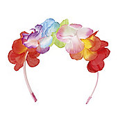 Adult Ladies Hawaiian Aloha Flower Headband Fancy Dress Accessory