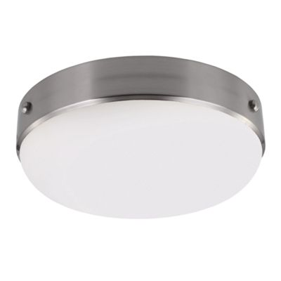 Brushed Steel Flush Mount - 2 x 75W E27