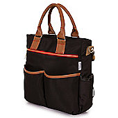 Babetta Baby Changing Bag Lightweight Satchel With Shoulder Strap + Changing Mat - Black
