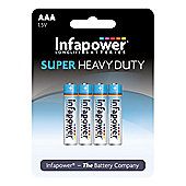 Infapower AAA Super Heavy Duty Batteries 4 Pack (B751)