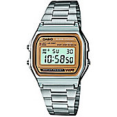 Casio Classic Unisex Stainless Steel Chronograph Alarm Watch A158WEA-9EF