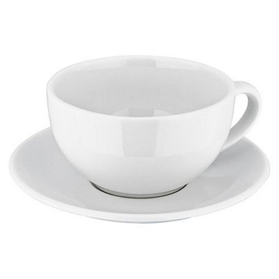 Judge Ivory Porcelain Cappucinno Cup and Saucer 0.35L