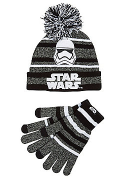 Star Wars Stormtrooper Bobble Hat and Gloves Set - Black
