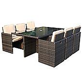 Charles Bentley Garden Rattan Furniture Set - 6 Seat