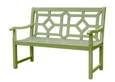 Woburn bench - lichen green