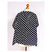 Palm & Pond Navy Blue and White Polka Dot Baby Breastfeeding Cover
