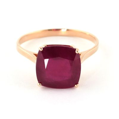 QP Jewellers 4.70ct Ruby Ring in 14K Rose Gold - Size Z