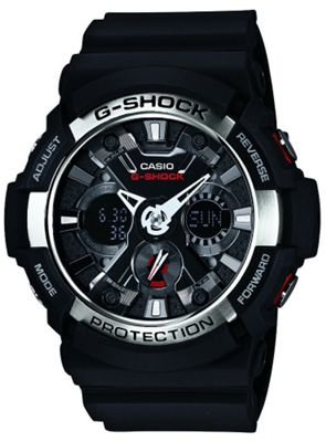 Casio G-Shock Mens Rubber Chronograph Watch GA-200-1AER